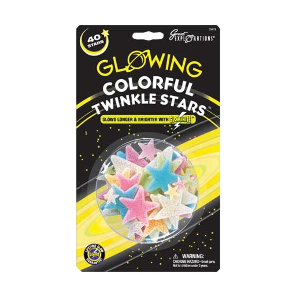 Great Explorations Glowing Colorful Twinkle Stars