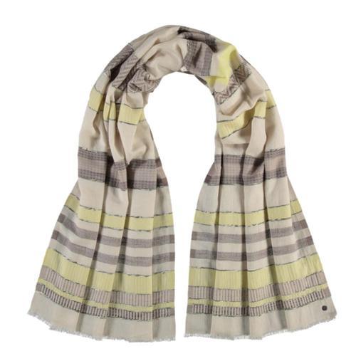 V. Fraas Sustainability Edition Textured Stripe Organic Cotton Scarf Lemon_110