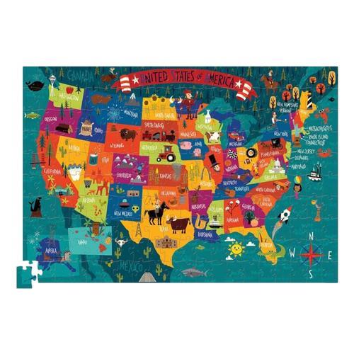 Crocodile Creek USA 200 Piece Jigsaw Puzzle
