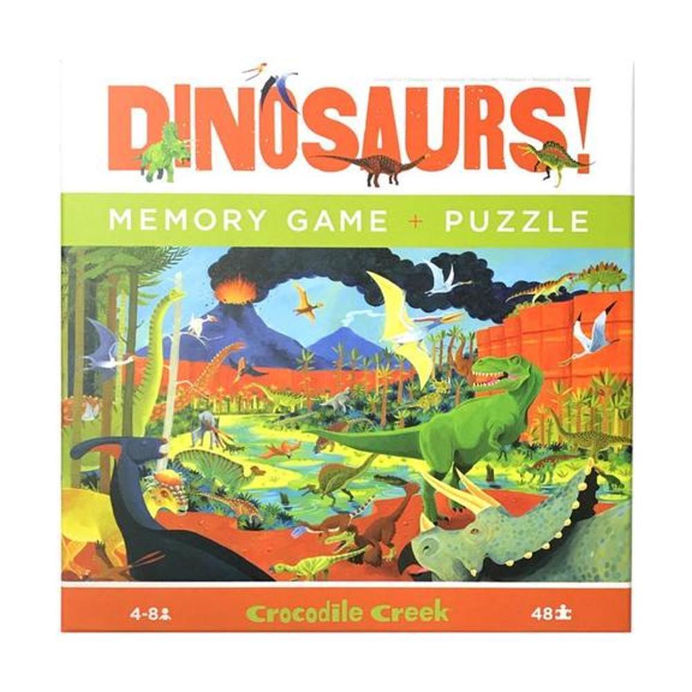 Crocodile Creek Puzzle + Memory Game 48pc - Dinosaurs!
