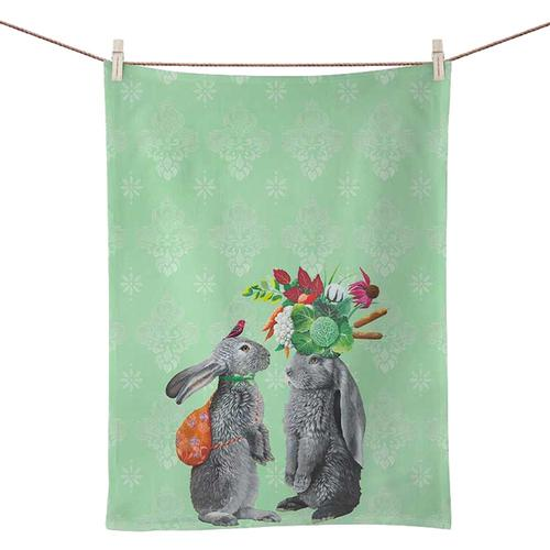 Greenbox Morning in the Garden Tea Towel