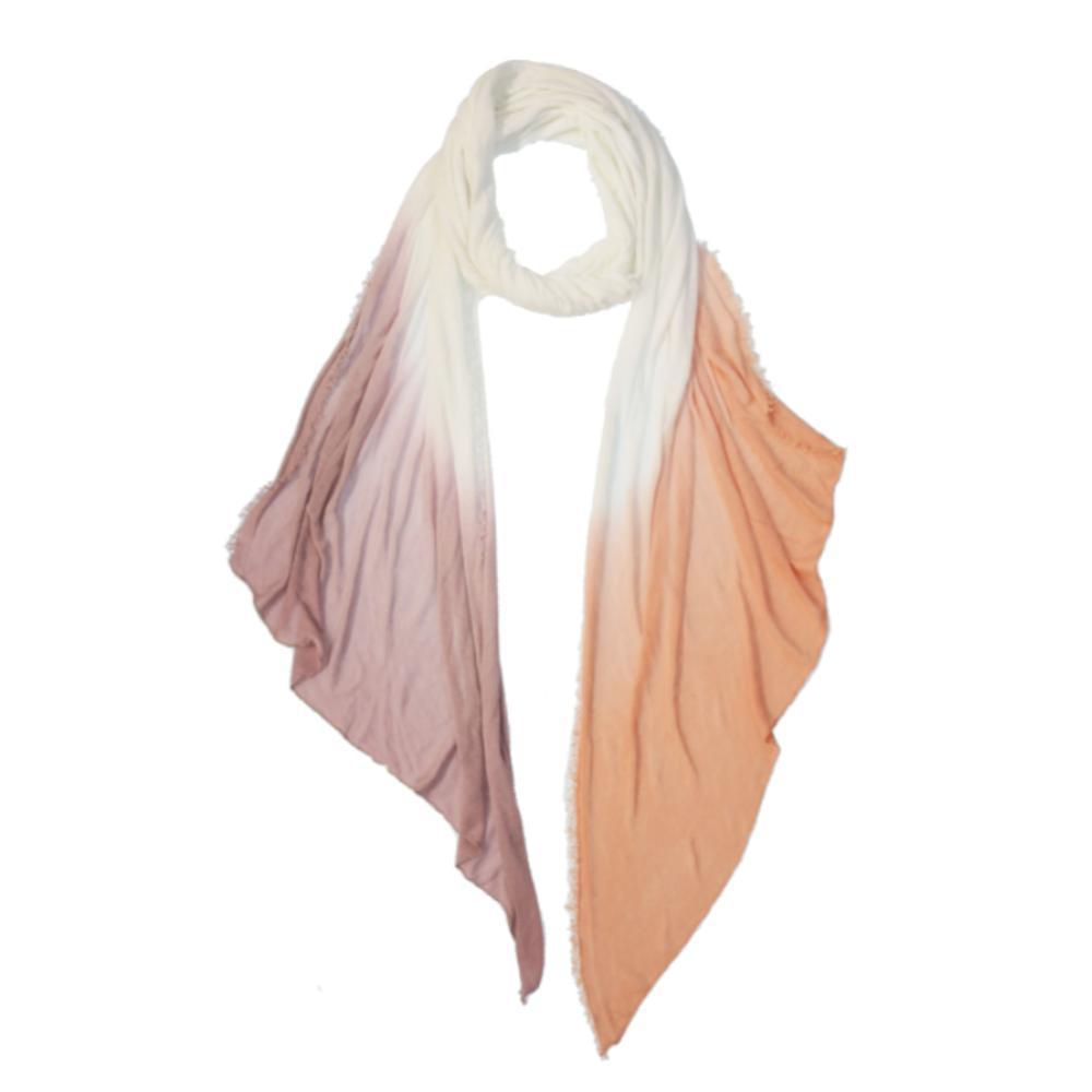 V. Fraas Dip Dye Bias Jersey Knit Scarf ORPINK_420
