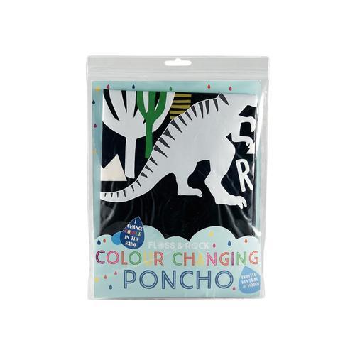 Floss & Rock Color Changing Poncho - Dinosaur Dinosaur
