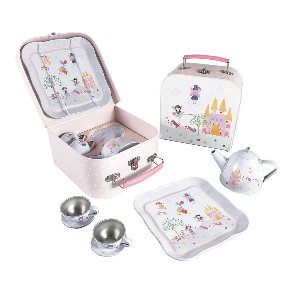 Floss And Rock Tin Tea Set 7 Piece - Fairy Unicorn Design