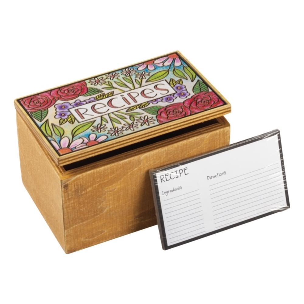 Primitives By Kathy Recipe Box - Recipes - Floral