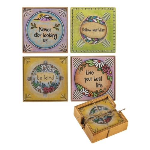 Primitives by Kathy Coaster Set - Be Kind