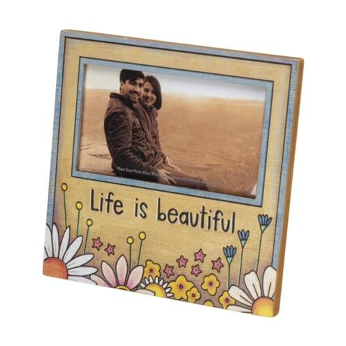 Primitives by Kathy Plaque Frame: Life Is Beautiful