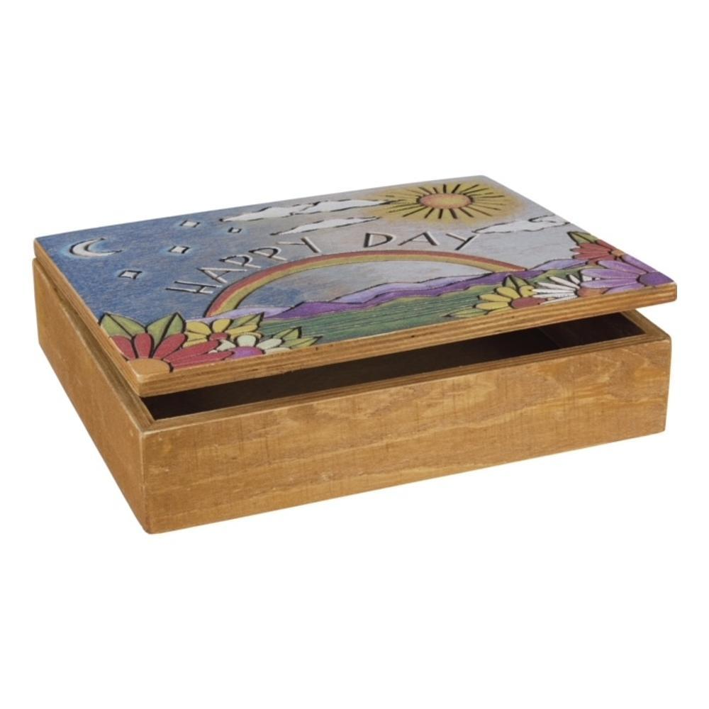 Primitives By Kathy Hinged Box - Happy Day