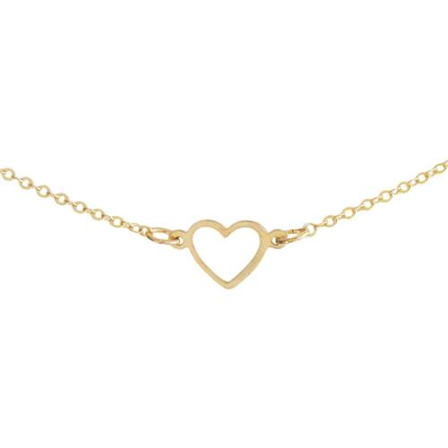 Ornamental Things Tiny Open Heart Necklace