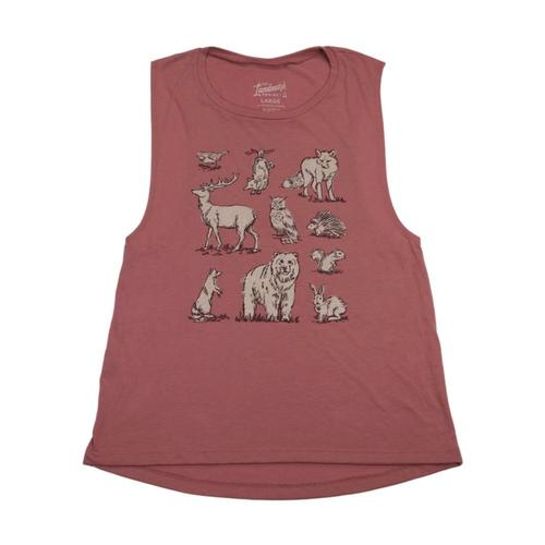 Landmark Project Women's Woodland Creatures Tank Mauve