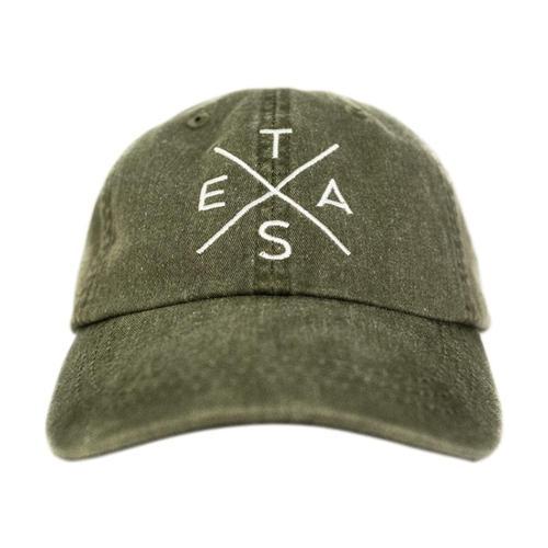 Tumbleweed Texstyles Big X Texas - Washed Cotton Twill Hat Cactus