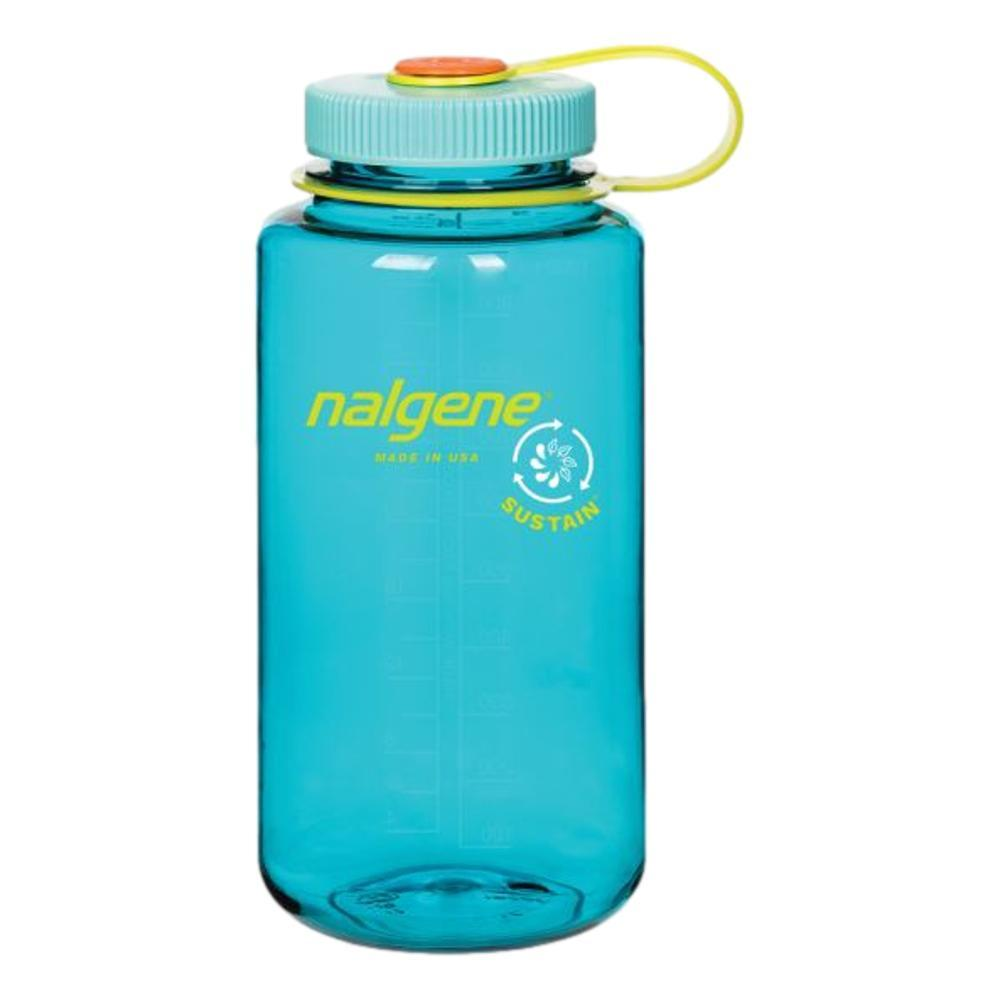 Nalgene Wide Mouth Sustain Water Bottle - 32oz CERULEAN