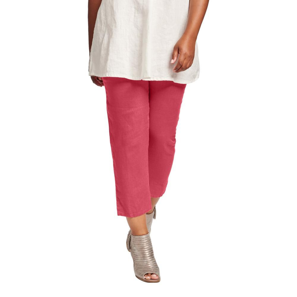 FLAX Women's Pocketed Ankle Pant RHUBARB