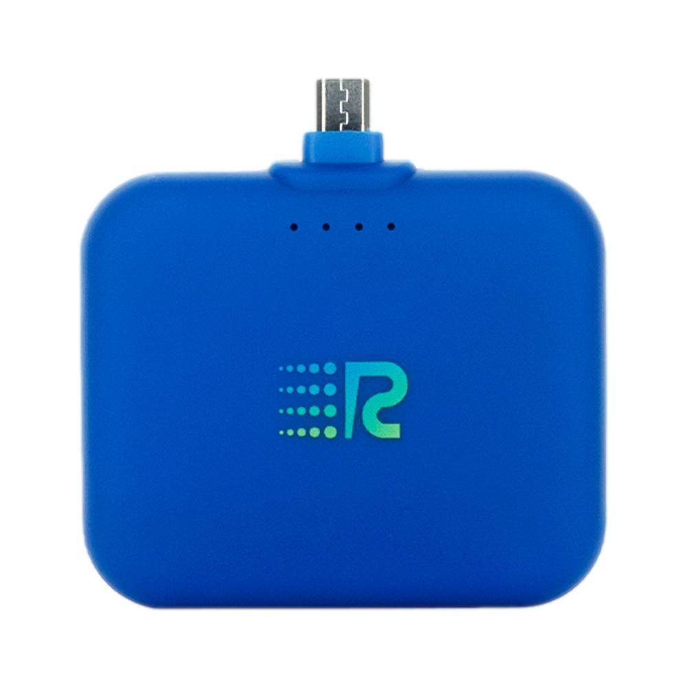 Rush Charge Air Portable Charger - Micro USB Cable BLUE