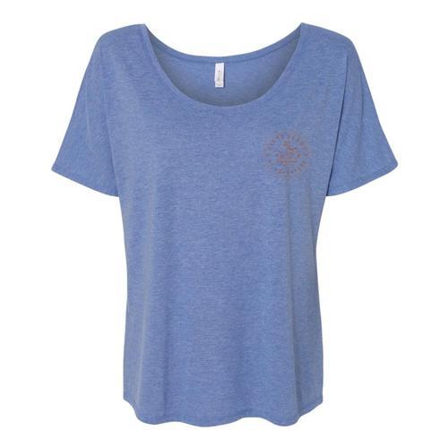 Whole Earth Women's 50th Anniversary Flowy T-Shirt Bluetriblend
