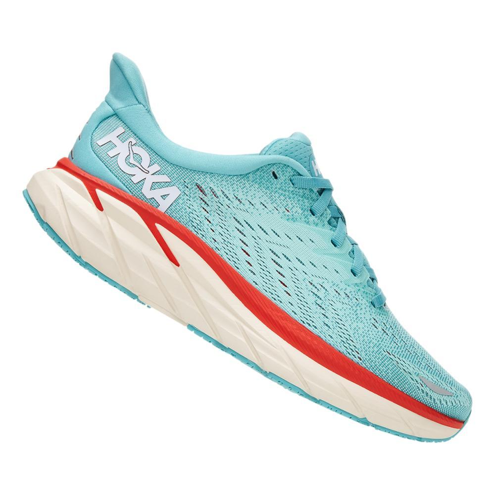 Hoka One One Women's Clifton 8 Running Shoes AQUAR.EBLU_AEBL