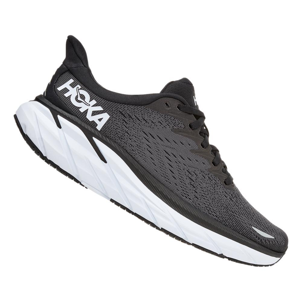 Hoka One One Women's Clifton 8 Running Shoes - Wide BLK.WHT_BWHT
