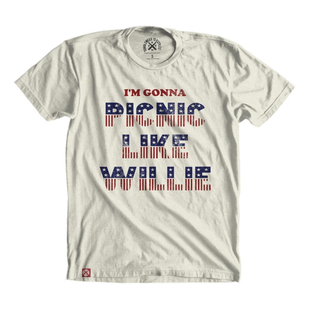 Tumbleweed Texstyles Unisex Picnic Like Willie T-Shirt NATURAL