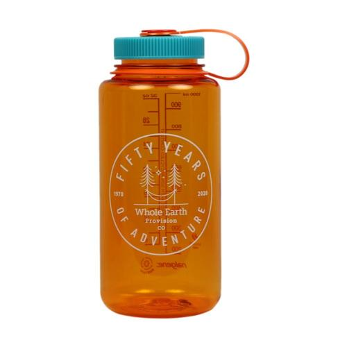Whole Earth 50th Anniversary Logo - Hammock Nalgene Wide Mouth Sustain Water Bottle - 32oz Clemtn_dktf_pom_rog