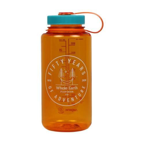 Whole Earth 50th Anniversary Logo - Hammock Nalgene Wide Mouth Sustain Water Bottle - 32oz