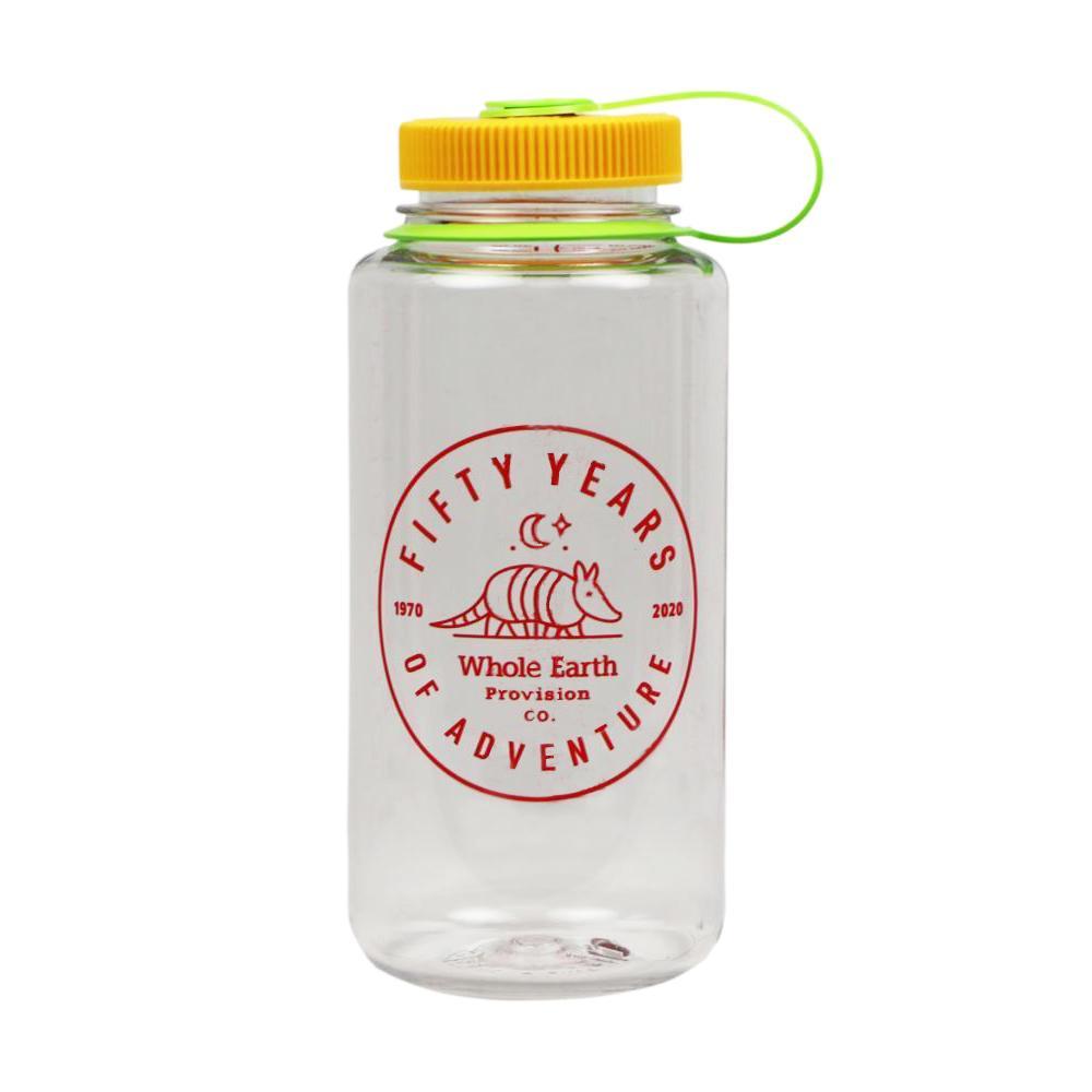 Whole Earth 50th Anniversary Logo - Armadillo Nalgene Wide Mouth Sustain Water Bottle - 32oz CLER_SUN_KI