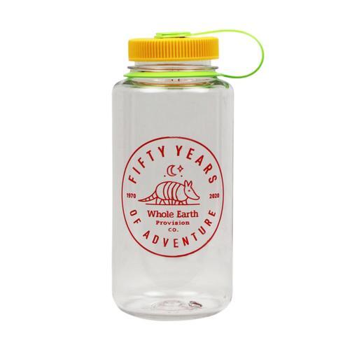 Whole Earth 50th Anniversary Logo - Armadillo Nalgene Wide Mouth Sustain Water Bottle - 32oz