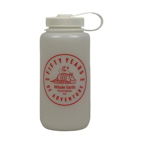 Whole Earth 50th Anniversary Logo Nalgene HDPE Wide-Mouth Bottle 32oz White_wht