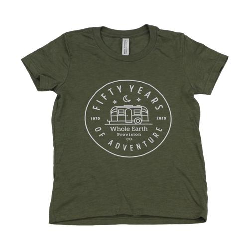 Whole Earth Kids 50th Anniversary T-Shirt Olive_airstrm