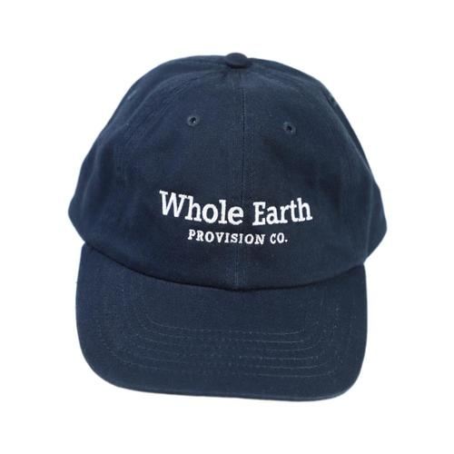 Whole Earth Embroidered Logo Unstructured Chino Cap Navy_vc300