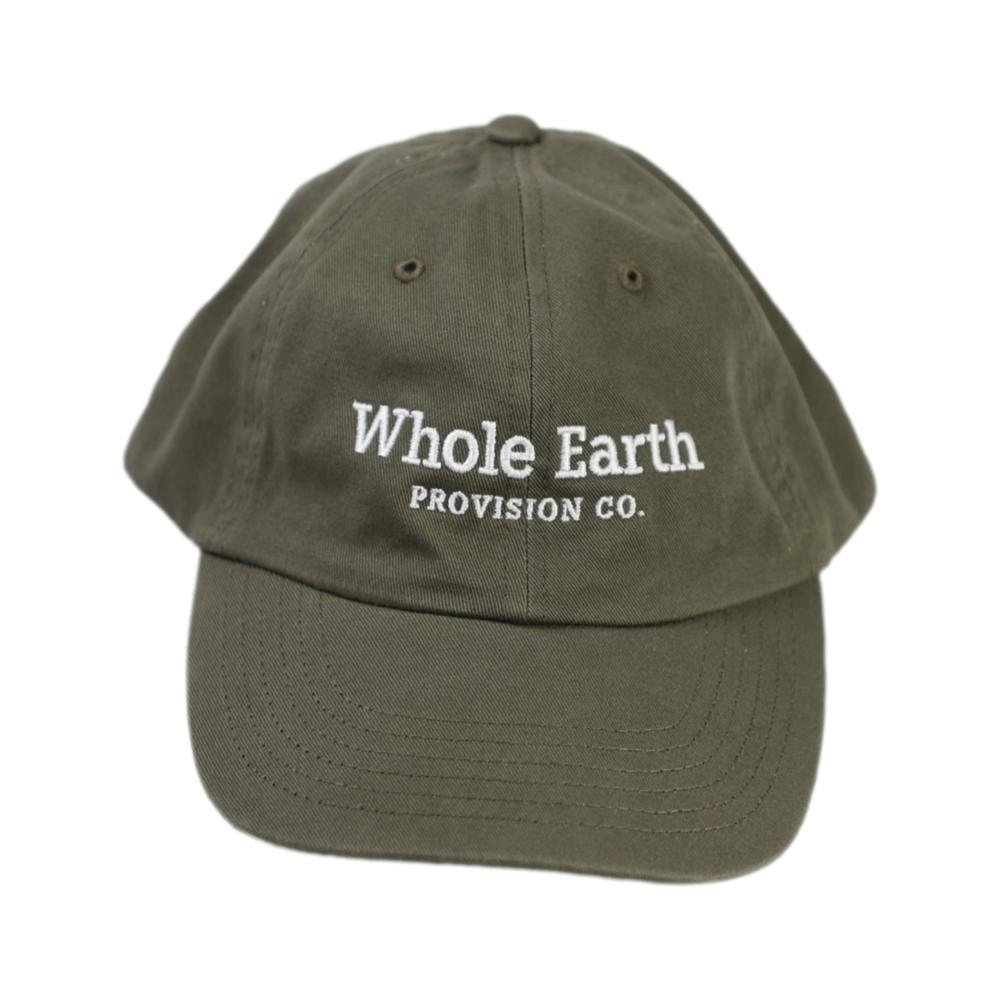 Whole Earth Embroidered Logo Unstructured Chino Cap OLIVE_VC300