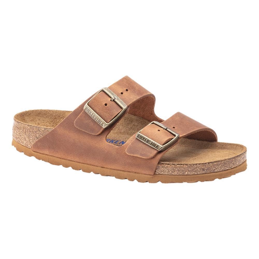 Birkenstock Men's Arizona Soft Footbed Suede Sandals - Regular COGNAC.OL