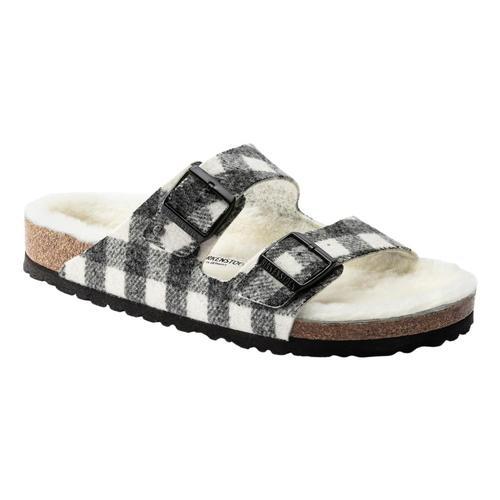 Birkenstock Women's Arizona Shearling Wool Sandals - Narrow Pldwhtnt.Wl