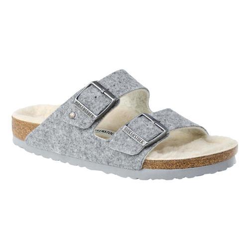 Birkenstock Women's Arizona Wool Felt Sandals - Narrow Ltgry.Wl