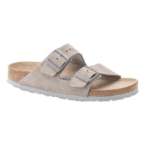 Birkenstock Women's Arizona Soft Footbed Suede Sandals - Regular Stone.Sd
