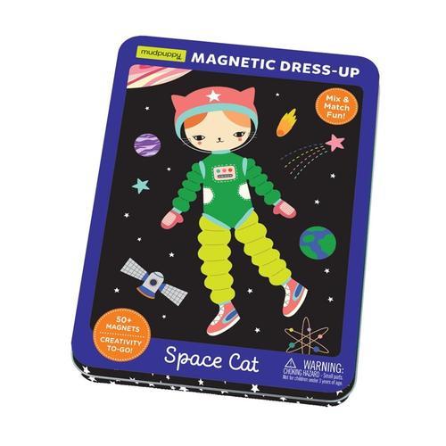 Mudpuppy Space Cat Magnetic Tin