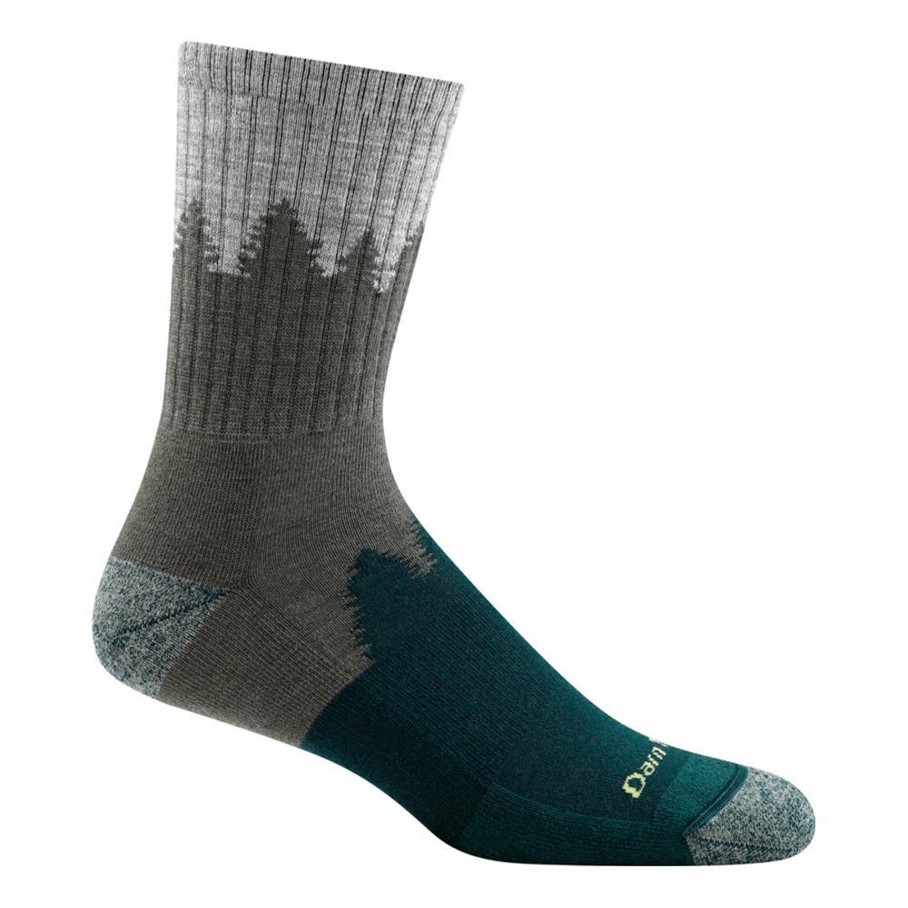 Darn Tough Men's Number 2 Micro Crew Midweight Hiking Socks GREEN