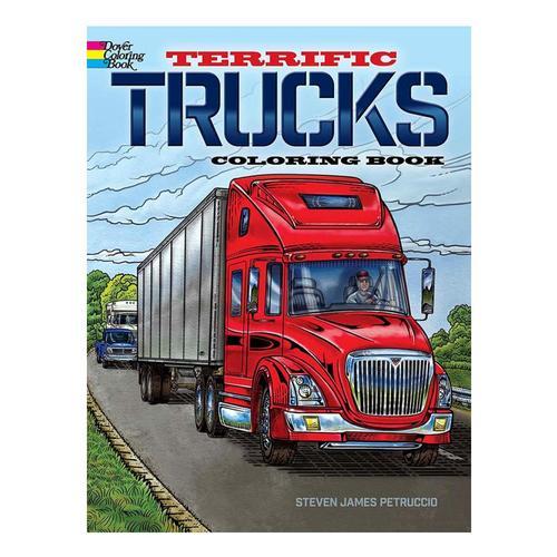 Terrific Trucks Coloring Book by Steven James Petruccio