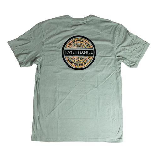 Fayettechill Men's Foliage Tee Shirt Verdigris