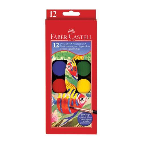 Faber-Castell Watercolor Paint Set - 12 Colors