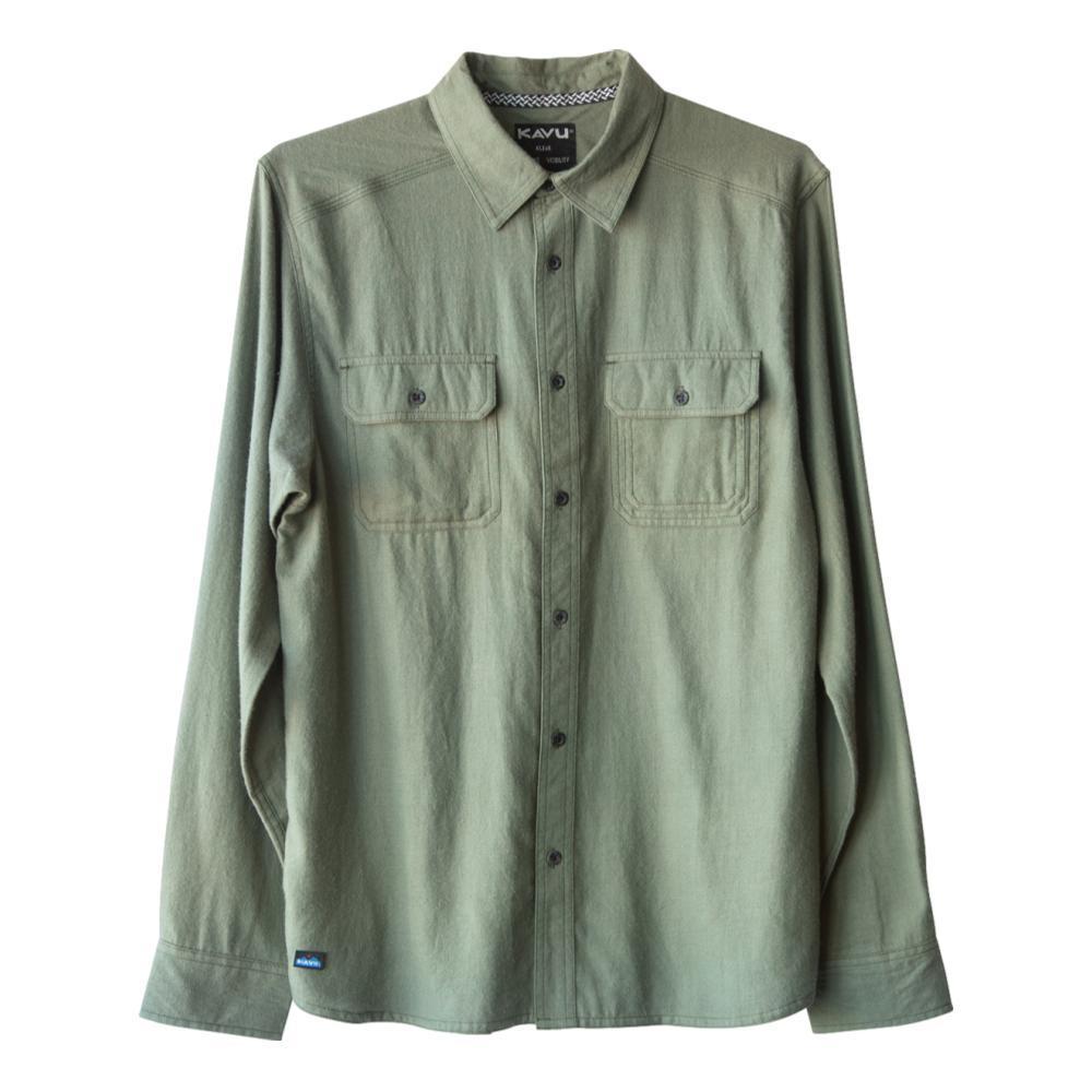 KAVU Men's Franklin Long Sleeve Shirt GREEN_1576