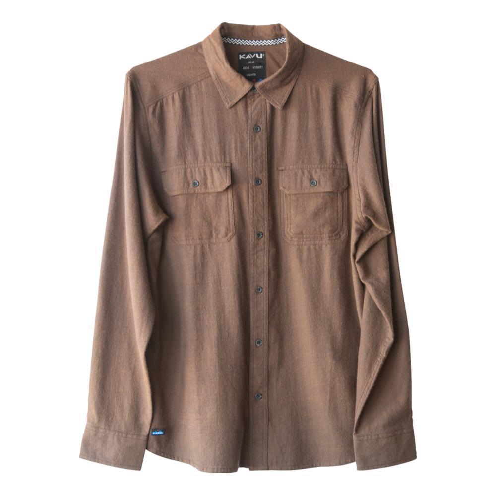 KAVU Men's Franklin Long Sleeve Shirt WALNUT_1592