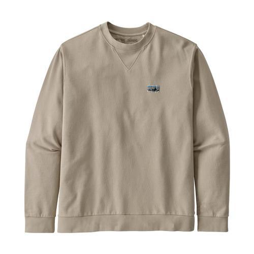 Patagonia Men's Regenerative Organic Cotton Crewneck Sweatshirt Pumice_pum