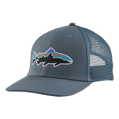 Patagonia Small Fitz Roy Fish LoPro Trucker Hat Pgrey_pgyt