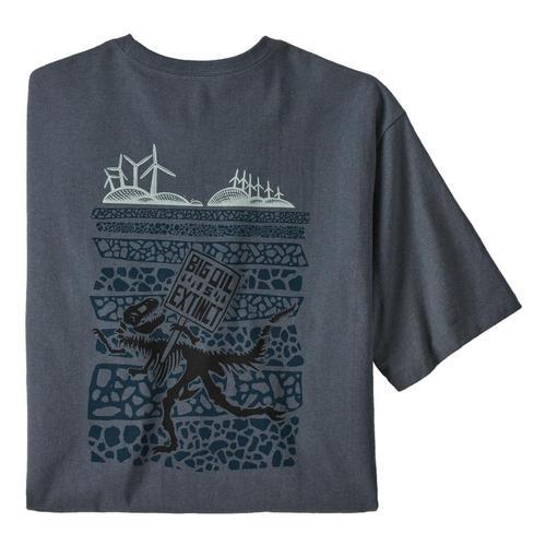 Patagonia Men's Big Oil Is Extinct Responsibili-Tee Shirt Pgrey_plgy