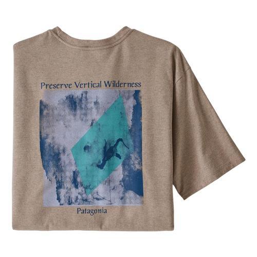 Patagonia Men's Last Ascent Pocket Responsibili-Tee Shirt Taupe_stpe