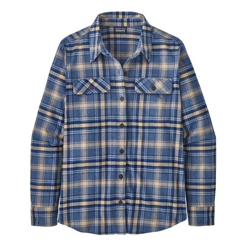 Patagonia Women's Long-Sleeved Organic Cotton Midweight Fjord Flannel Shirt Dblue_ifdb