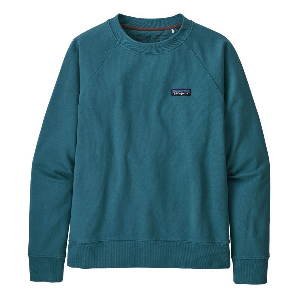 Patagonia Women's P-6 Label Organic Crew Sweatshirt ABLUE_ABB