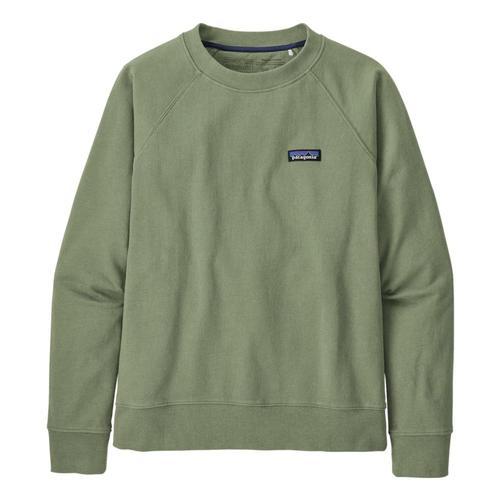 Patagonia Women's P-6 Label Organic Crew Sweatshirt Green_segn