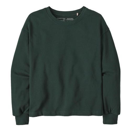 Patagonia Women's Regenerative Organic Pilot Cotton Essential Pullover Green_norg