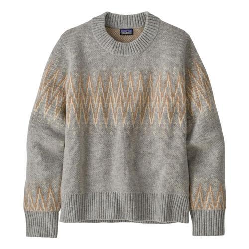 Patagonia Women's Recycled Wool Crewneck Sweater Sgrey_segy